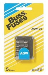Bussmann BP/AGW15 Carded Fuse -