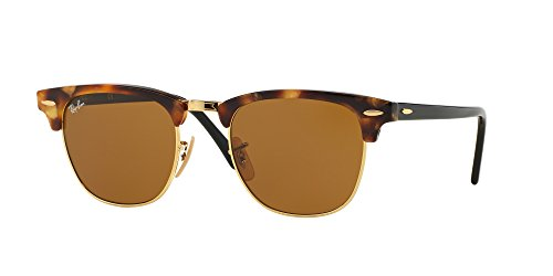 Ray Ban RB3016 1160 49M Spotted Brown - Clubmaster Brown Ban Ray