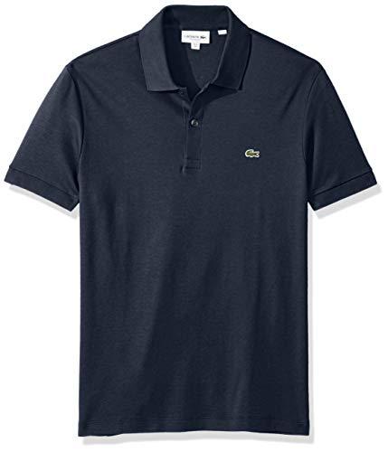 Lacoste Men's Short Sleeve Pima Jersey Interlock Regular Fit Polo, DH2050, Meridian Blue, XXX-Large