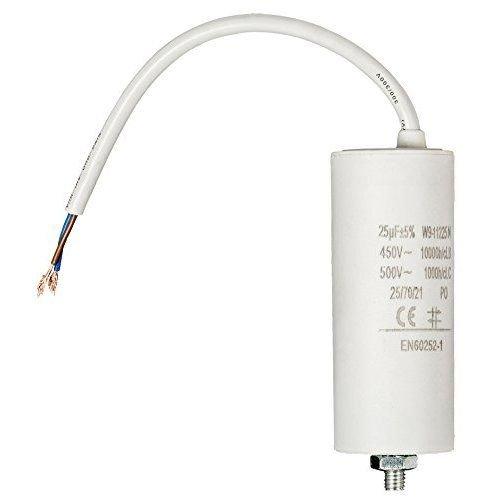 Condensador Arranque Motor electrico 25.0 uF 450 V con Cable, Cablepelado® Cablepelado®