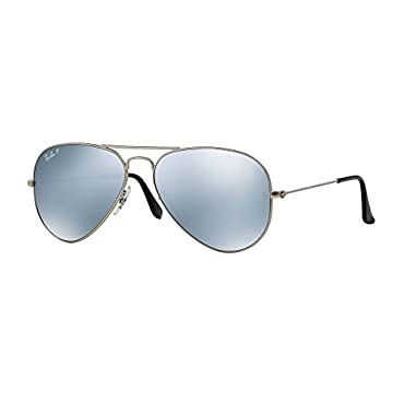 Ray Ban RB3025 019/W3 58 Silver/Polarized Silver Mirror Large Aviator Bundle-2 Items