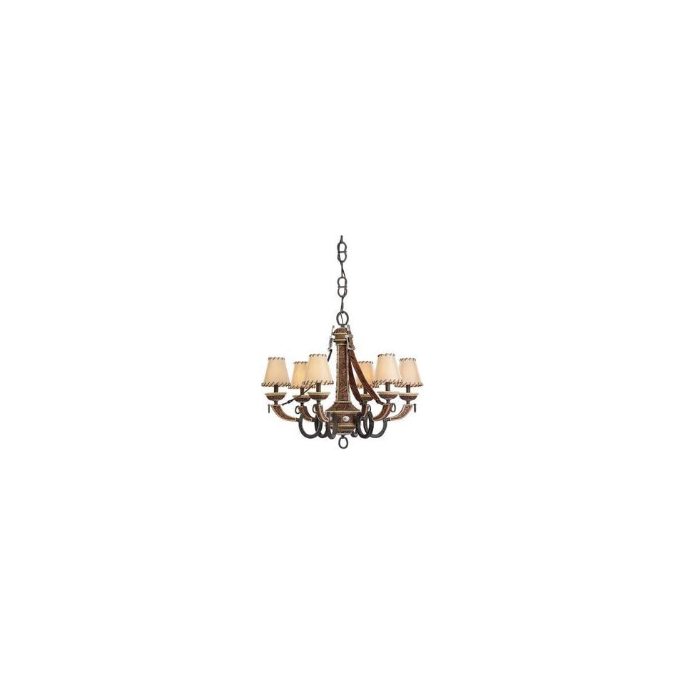 Monte Carlo Fan DO6CHWI 6 Light Durango Chandelier, Weathered Iron   1673069