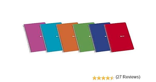 Enri 100430100 - Pack de 10 cuadernos espiral, tapa blanda, Fº: Amazon.es: Oficina y papelería