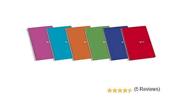 Enri 100430107 - Pack de 10 cuadernos espiral, tapa blanda, Fº: Amazon.es: Oficina y papelería