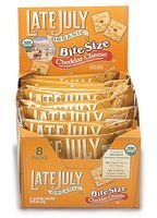 Late July Bite Size Cheddar Cheese 5 Oz (Pack of 12)