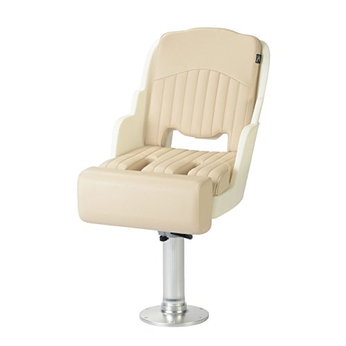 Garelick/Eez-In 48555-01:02 550 Compact Roto Molded Seat with Bolster & Pedestal Package - White (Boat Seat Pedestal Packages compare prices)