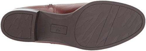 Jeannie Leather Klein Ankle Dark Boot Cognac Anne Women's E18BqBw