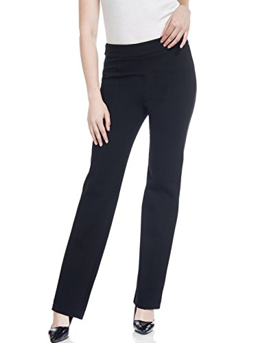 Soshow Women Pull On Curvy Work Pants Ladies Bootcut Stretch Rayon Trousers