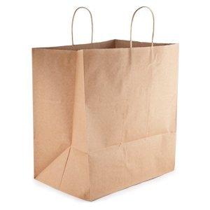 50 papel al por menor bolsas de la compra papel Kraft con ...