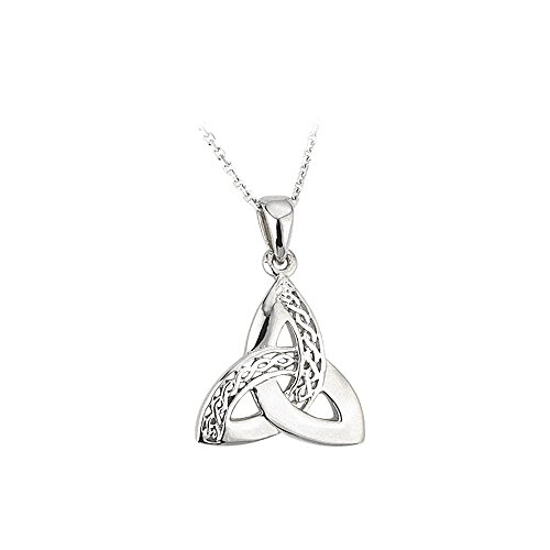 - Jewelry Trinity Knot Necklace Sterling Silver Celtic Weave 18