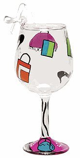 Lolita Shopaholic Too Mini Wine Ornament Retired - Beverage Vino Bar ORN5-5775S (Lolita Glass Wine Ornament)