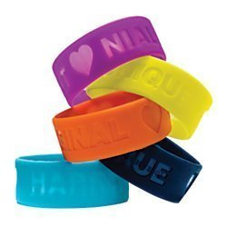 One Direction Limited Edition 1D + OD Together Silicone Wristbands, Bundle Set of 5: Harry, Liam, Louis, Niall, and Zayn by