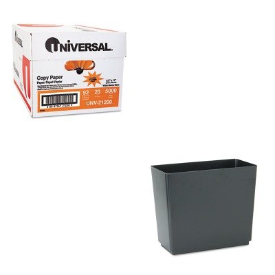 KITRCP25051UNV21200 - Value Kit - Rubbermaid Designer 2 Wastebasket (RCP25051) and Universal Copy Paper (UNV21200)