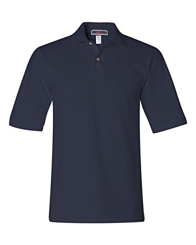 Jerzees mens 6.5 oz. Ringspun Cotton Pique Polo(440)-J NAVY-XL