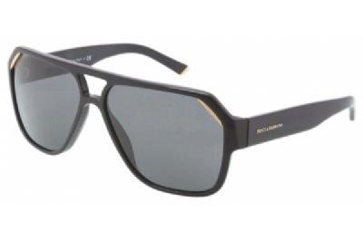 Dolce & Gabbana Men's DG4138 Sunglasses Shiny Black / Gre...