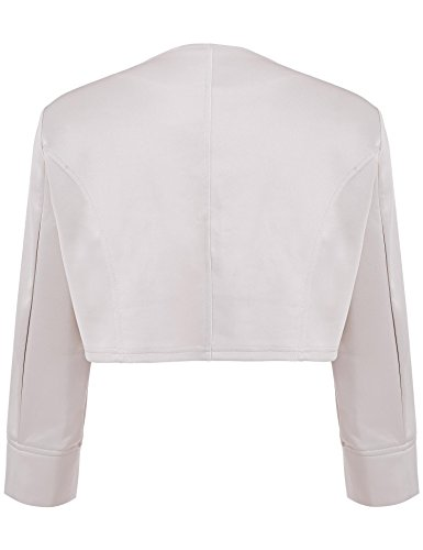 Asatr Women's Long Sleeve Dressy Open Front Bolero Shrug Top Jacket by Asatr (Image #3)