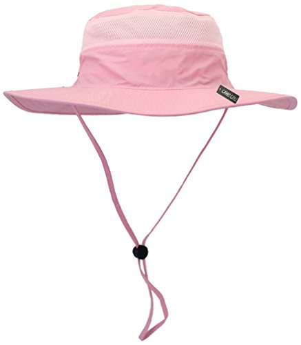 Camo Coll Outdoor UPF 50+ Boonie Hat Summer Sun Caps (One Size, Pink)
