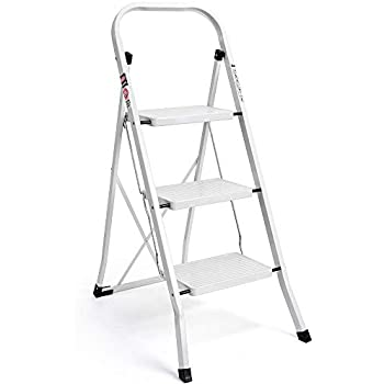 Amazon Com Delxo 3 Step Ladder Folding Step Stool Ladder