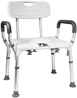 كراسي المقعدة كرسي المرحاض كومود الرجل العجوز دش كرسي دش كرسي الحمام المقوي الحمام مقعد الحمام المحمول المرحاض كرسي مزدوج الأغراض اللون أبيض الحجم 48 57 72 سم Amazon Ae
