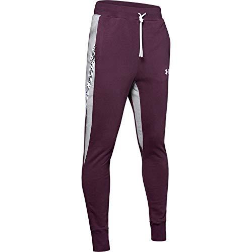 Under Armour Sportstyle Fleece Jogger, Kinetic Purple (520) / White, Youth Medium