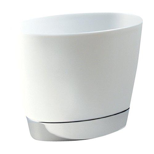 mDesign Oval Wastebasket Trash Can for Bathroom Kitchen Offi