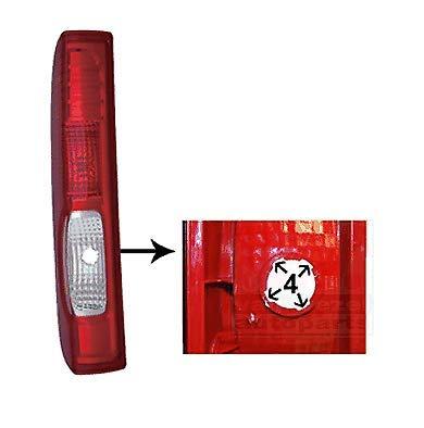 Trade Vehicle Parts RN8002 Rear Light Lamp Passenger Side Takes 4 Lug Bulb Holder