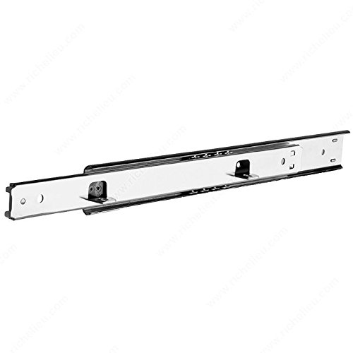 Series 2002 Two-Way Drawer Slide - 50 lb - T20022G16 - Slide Length 16 in, Load Capacity 50 lb, Slide Extension 3/4 Extension, Finish Zinc, Brand Accuride