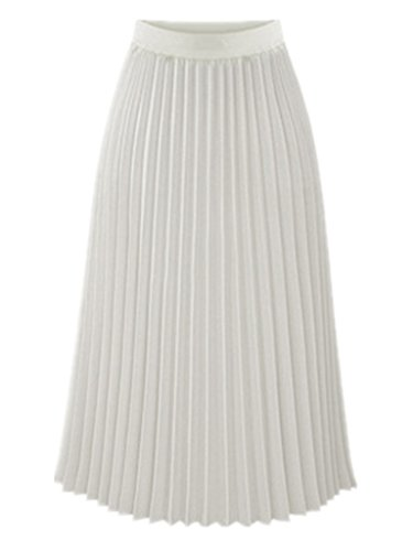 White Midi Pleated Skirt - Dress Ala
