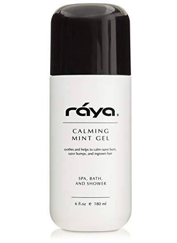 RAYA Calming Mint Gel 6 oz (S-501) | Softening and Soothing Gel | Great for After Shaving and Waxing | Helps Heal Razor Bumps, Razor Burns, and Ingrown Hairs