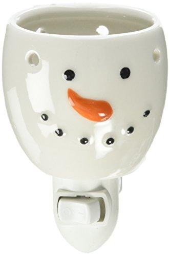 (ArtVerse Holiday Ceramic Plug-in Wax Warmer - Snowman Design (1 Pack), )
