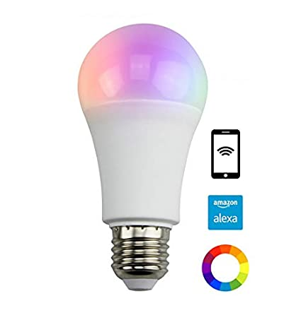 Bombilla LED Color y temperatura regulables mando a distancia Alexa E27 Kosilum – IP20 – clase