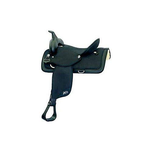 ABETTA Cordura Square Skirt Saddle 16In XW Black