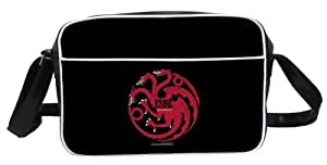 "Juego de Tronos - Bolso bandolera diseño Targaryen ""Fire and Blood"", color negro (SD Toys SDTHBO02289)"