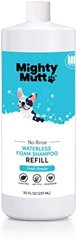 Mighty Mutt Natural & Hypoallergenic Dry Shampoo Foam for Dogs | Waterless No Rinse | Anti-Itch, Soothing