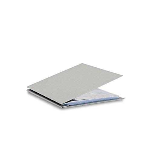 Pina Zangaro Bex 8.5x11 Portriat Screwpost Binder Gray, Includes 20 Pro-Archive Sheet Protectors (34058)