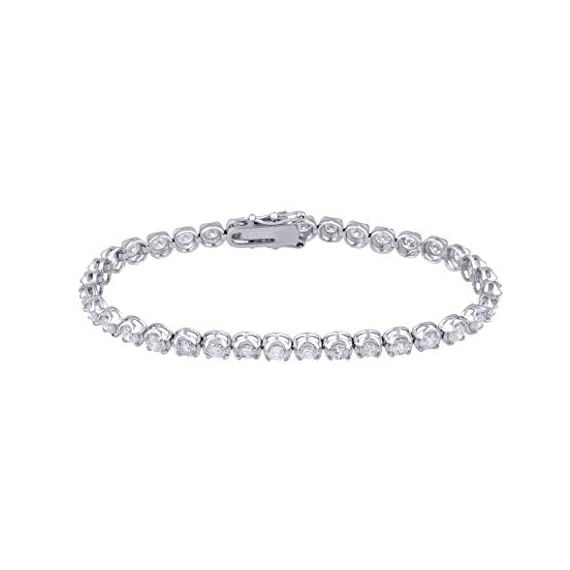 - 31fL3l71fmL - IGI Certified 7.00 Carat Natural Diamond Bracelet 14K White Gold (H-I Color, I1-I2 Clarity) Diamond Tennis Bracelet for Women Diamond Jewelry Gifts for Women