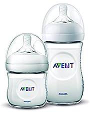 Mamadeiras Pétala, Philips Avent, Transparente, 125 ml e 260 ml