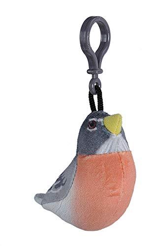 Wild Republic American Robin Bird Plush Clip, Stuffed Animal, Bird Toys for Kids, Birders, - Republic Birds Wild Plush
