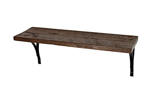 Reclaimed, Wood Shelf, Pine, 24'' x 10'' x 1'', with Brackets, Vintage, Antique, Good For Small Items by Joel's Antiques & Reclaimed Decor