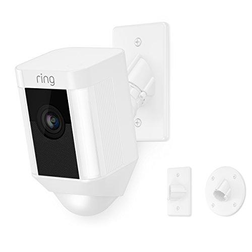 Ring Spotlight Cam Mount HD Security Camera, White