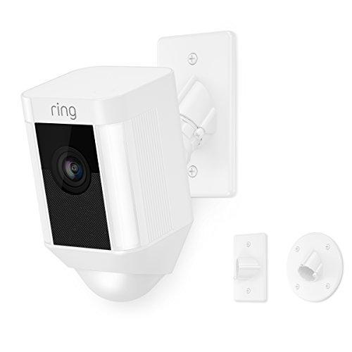 (Ring Spotlight Cam Mount HD Security Camera, White)