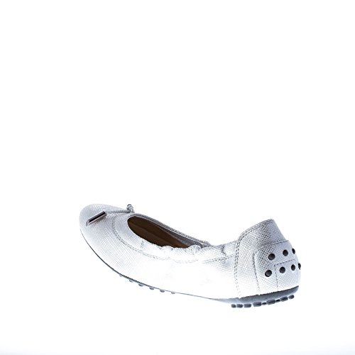 Tod's Argento in Dee Argento Laccetto Ballerina con Pelle qqHTRfCw