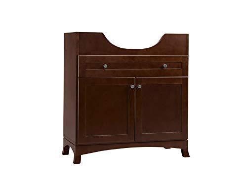 Ronbow Essentials Adara 31 Inches Space Saver Bathroom Vanity in Dark Cherry 053831-73-H01