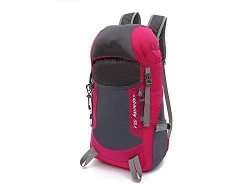 Borse all' aperto, outdoor e indoor leggero pieghevole portatile bag arrampicata all' aperto Borsa zaino da escursionismo (rosy)