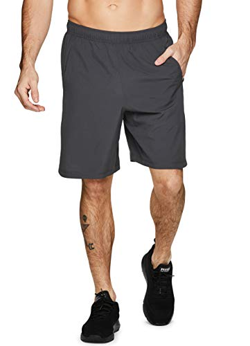 Flash Shorts Basketball - RBX Active Men's Woven Athletic Basketball Gym Shorts with Pockets SP-19 Grey S