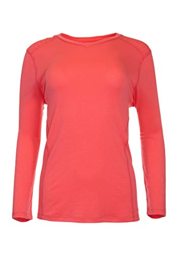 (Swiss Alps Womens UPF 40+ Sun Protection Long Sleeve Outdoor Performance Shirt Top, Calypso Coral, M)