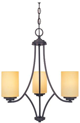 (Designers Fountain 83283-ORB Marbella 3 Light Chandelier, Oil Rubbed Bronze, 19.5