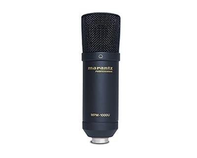 Marantz Professional MPM-1000U | Studio Condenser USB Microphone for DAW Recording & Podcasting (14mm / USB Out) by inMusic Brands Inc.