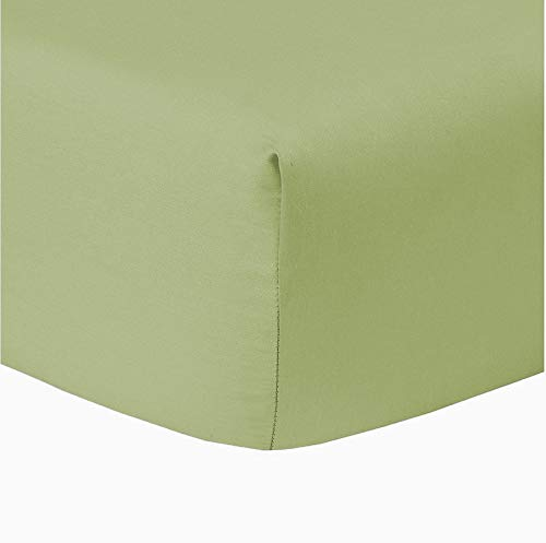 Myra Home Collection Egyptian Cotton 700 Thread Count 1 Piece Fitted Sheet (Bottom Sheet) 15 inch Deep Pocket - Sage, Cal-King