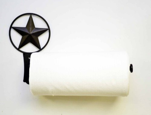 STAR WALL PAPER TOWEL HOLDER-15.5''Long X 9'' High by Laredo Import (Image #1)